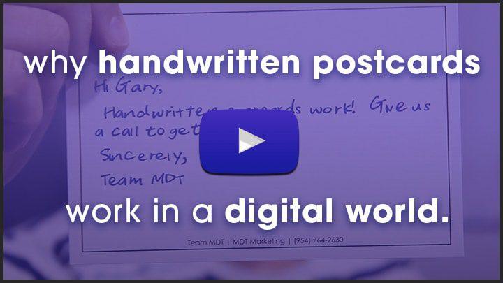 Video: why handwritten postcards work in a digital world.