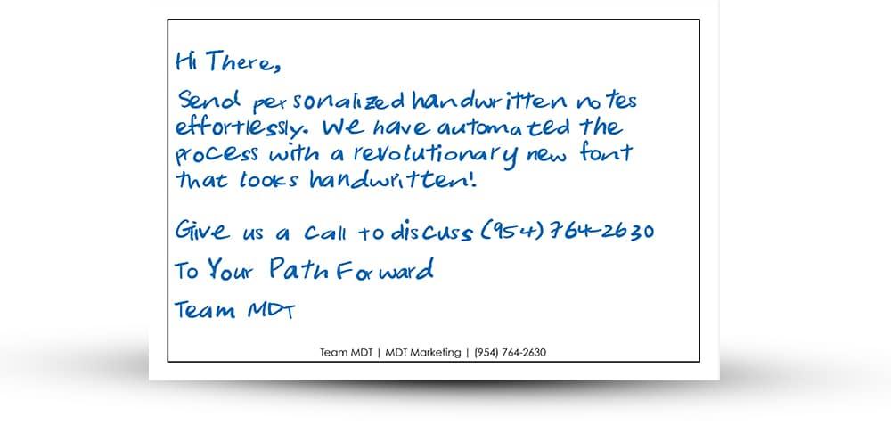 Handwritten Postcard